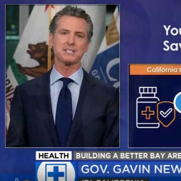 Gavin Newsom screenshot from ABC News story