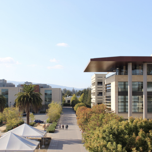 Picture of Stanford Medicine on campus, from Stanford Daily story