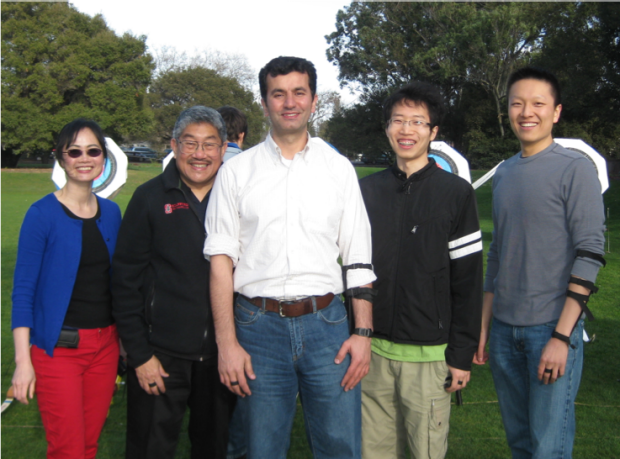 Photo of Dr. Liao and colleagues outside after a session of archery