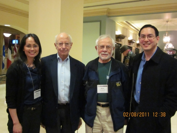 Dr. Liao in a group photo at a conference