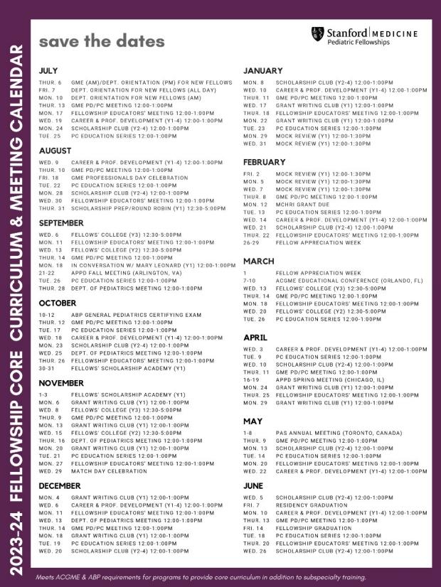 Fellow Core Curriculum 2021-22
