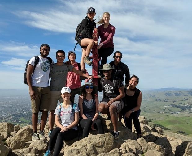 Biosciences-group-Mission-Peak-hike_2018