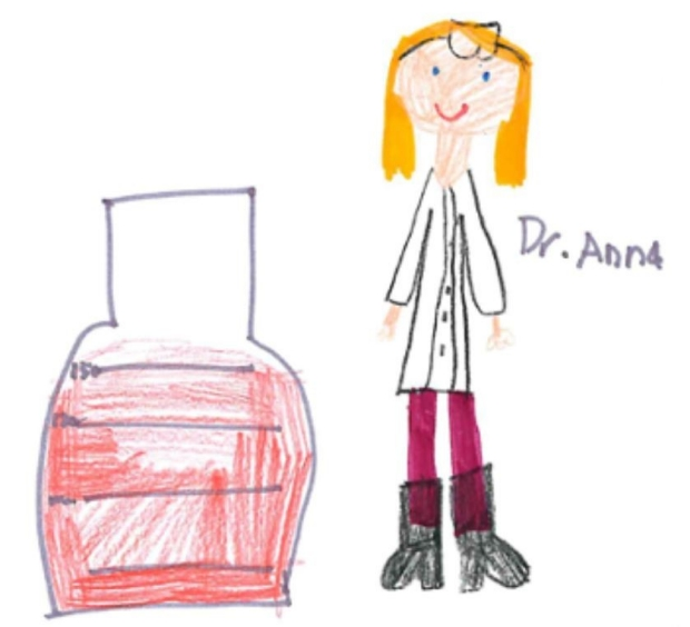 Art work by pupils from Headington Prep School (Oxford, UK).  Representation of a scientists by Grade 4 students