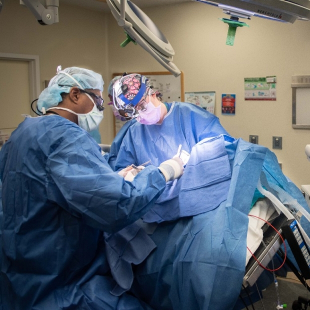 Dr. Kebebew performing a procedure in the OR
