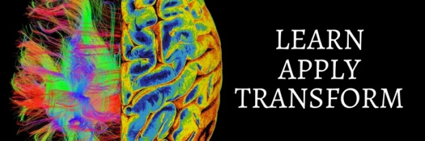 Learn, apply, transform poster