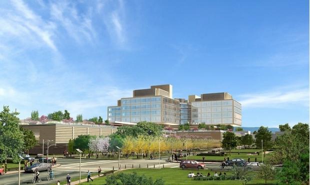 Digitally rendered new hospital