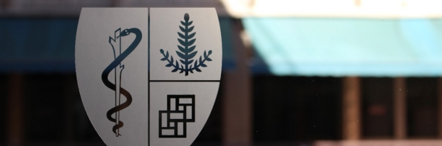 logo on glass