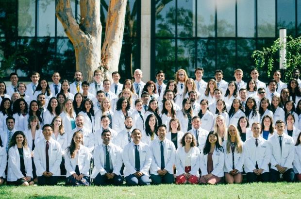 UCSD White Coat Ceremony Leeper Lab alumni Sophia Xiao
