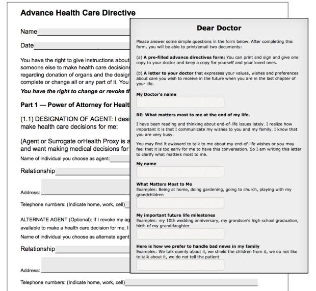 Advance Care Directive form