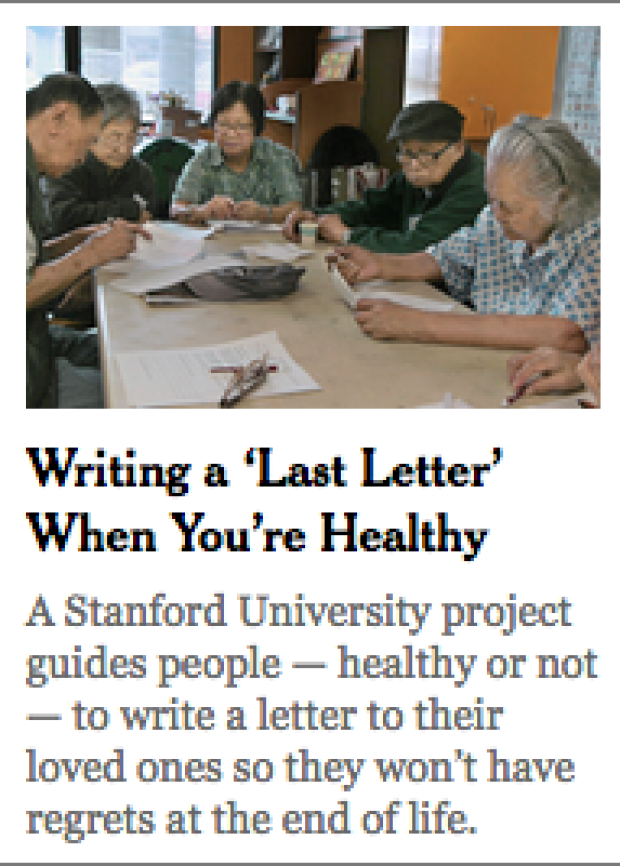 Life Review Letter in NYT