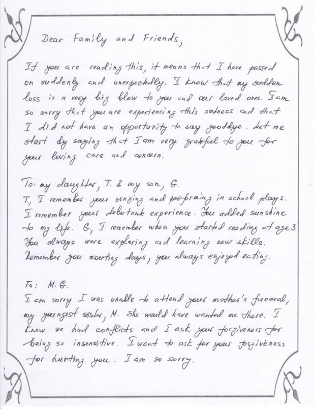 Sample letter -1