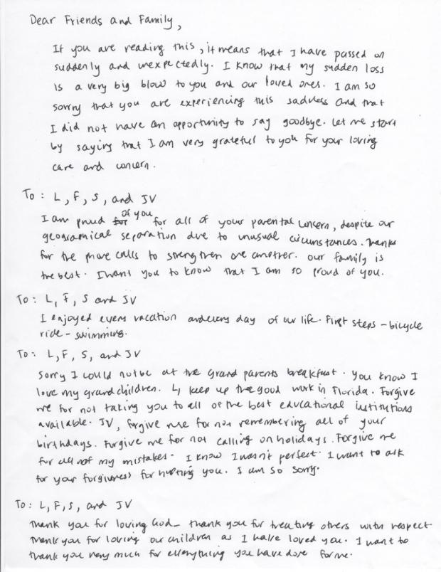Sample letter -3