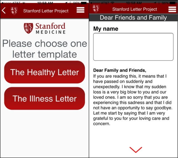 The Stanford Letter Project App