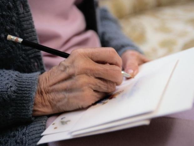 Photo: writing hand