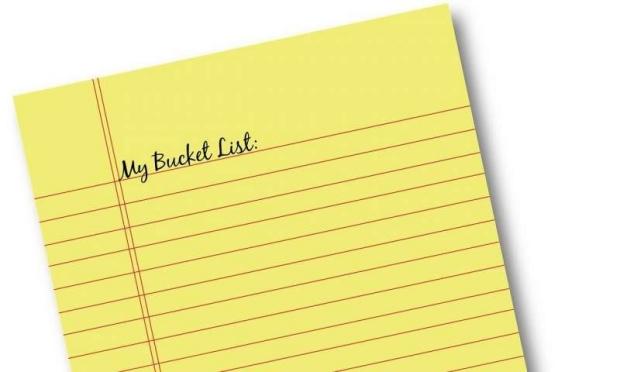 Photo: Bucket list notepad