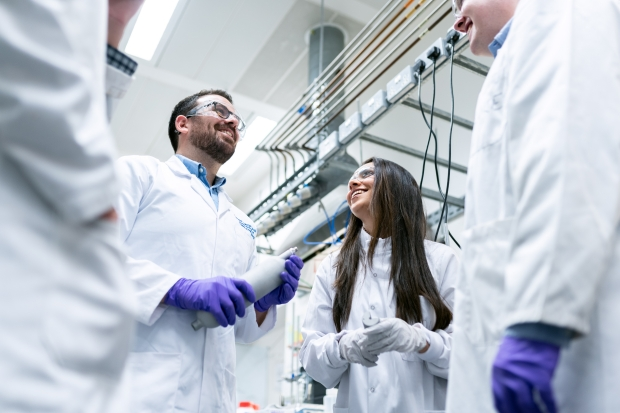group of lab technicians