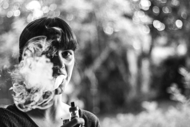 Girl with e-cigarette
