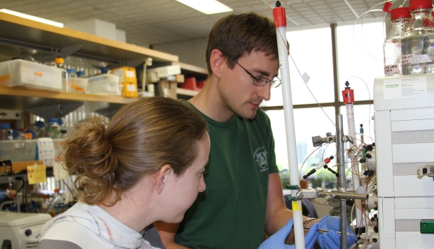 PhD Program Students in Lab