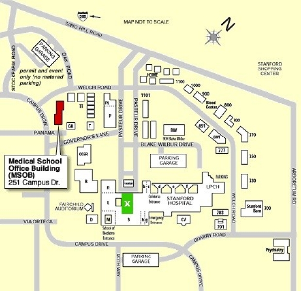 Map to Medical School Office Building (MSOB)