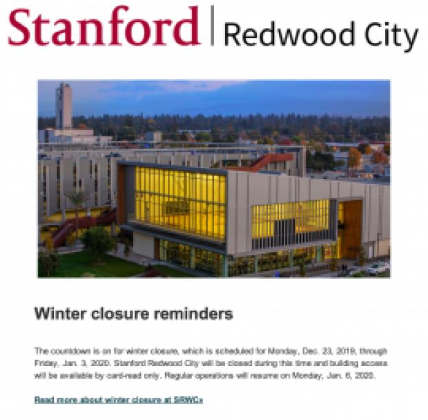 SRWC December 2019 newsletter | Redwood City