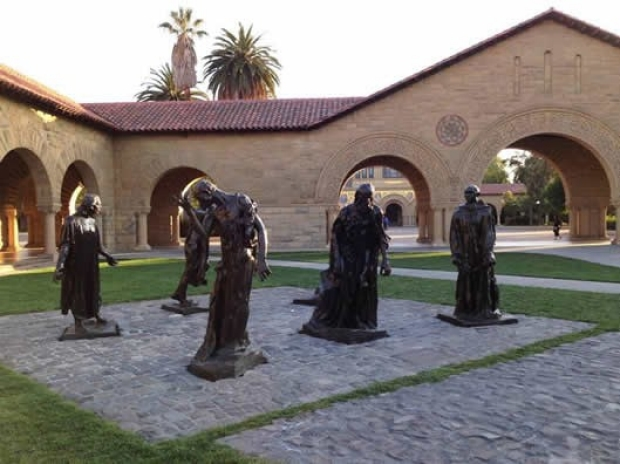 Auguste Rodin, Burghers of Calais, Stanford University Campus
