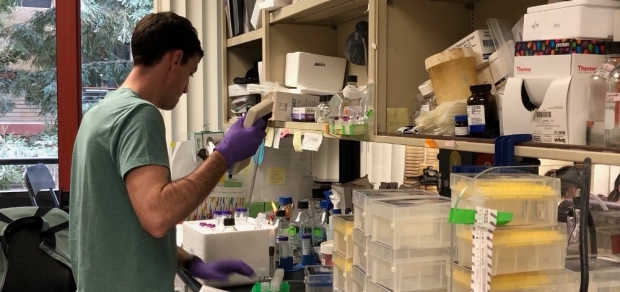 Jared Honeycutt, graduate student in the Monack Lab, Department of Microbiology and Immunology