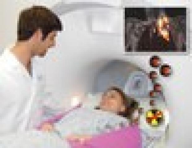 conceptual artistic rendering of radiation-free whole body pediatric MRI