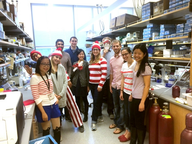 Monje Lab Where's Waldo Halloween Theme Party