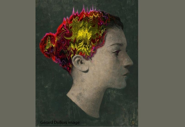 Woman with colorful hair.  Article written by Ruthann Richter and Published on April 27, 2020