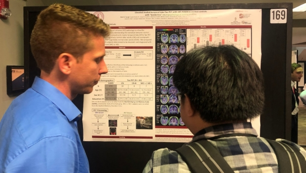 Tyler and Ali present at Human Amyloid Imaging 2020