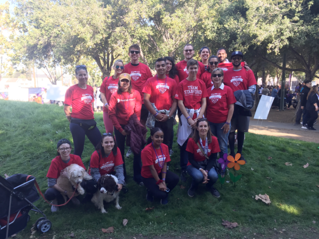 """""""Mormino Lab joins the Stanford ADRC during the Walk to End Alzheimer's Disease in San Jose, October 2019"""