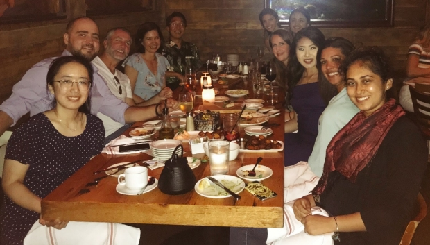 Joint Mormino-Greicius lab dinner at AAIC 2018
