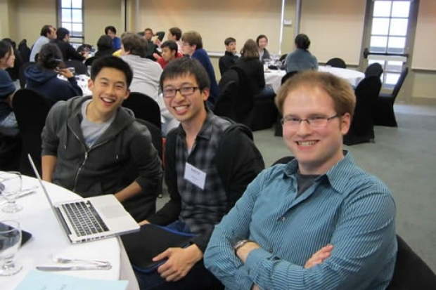 Daniel Kim, Gerald Tiu and Chris Mount at the MSTP annual conference