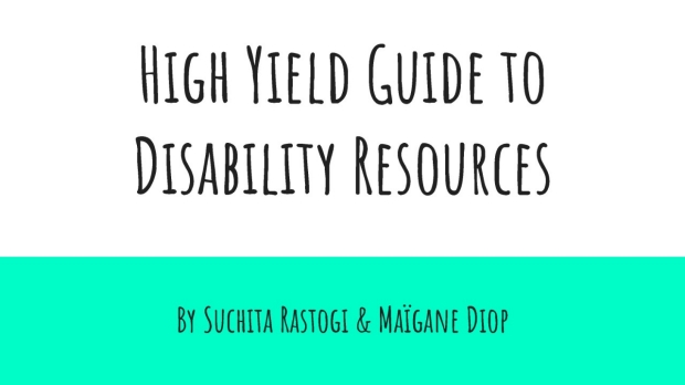 High Yield Guide to Disability Resources