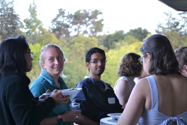 Students at the Welcome BBQ