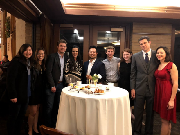 Lab members at the Byers 2018 Holiday Party