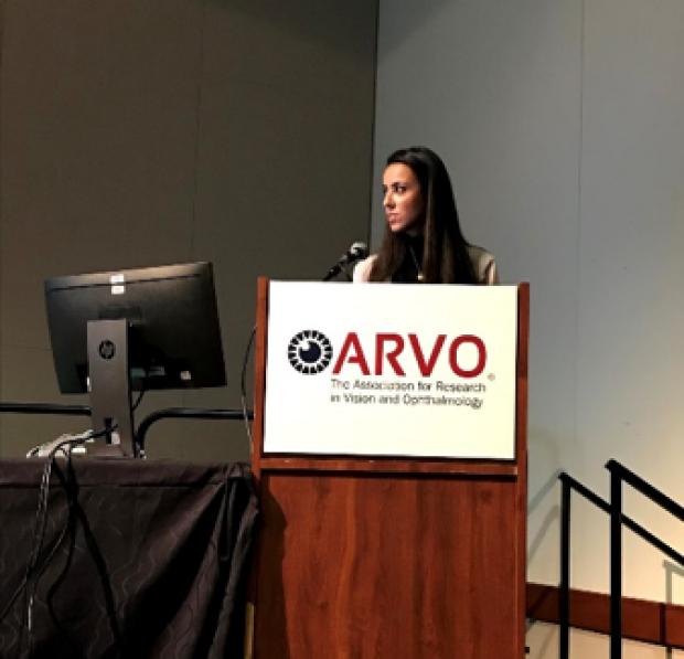 Gabriella presenting at ARVO 2018