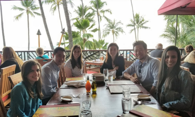 Group out eating while on break at ARVO 2018