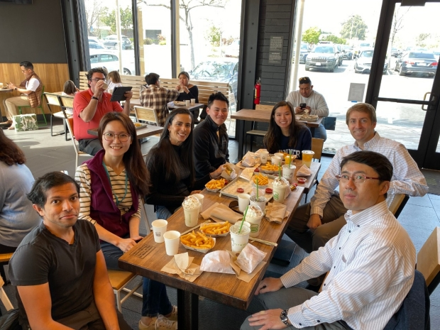 Group Lunch, pre-Shelter-in-Place (2020)