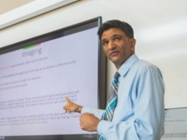 Vivek Bhalla, MD gives a lecture