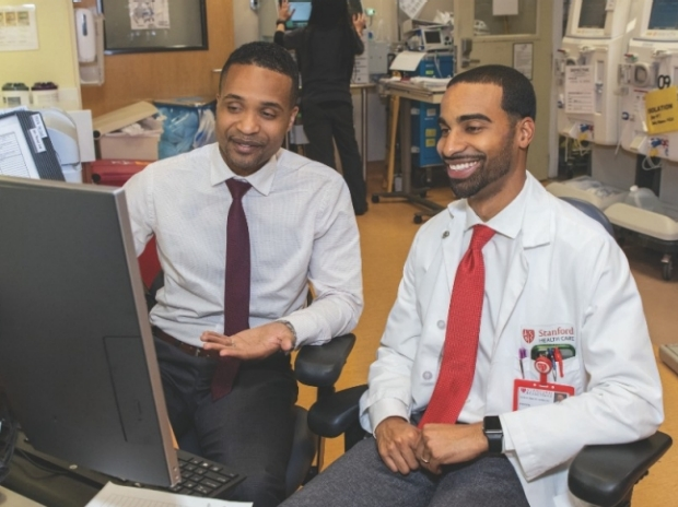 From left: Nephrology fellows Dimitri Augustin, MD, MS, and Daniel Watford, MD, MPH