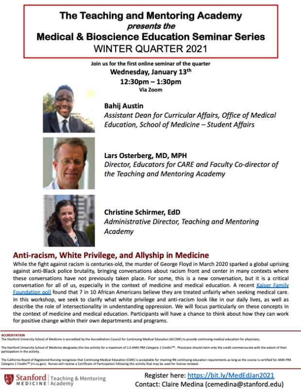 Diversity seminar January 2021