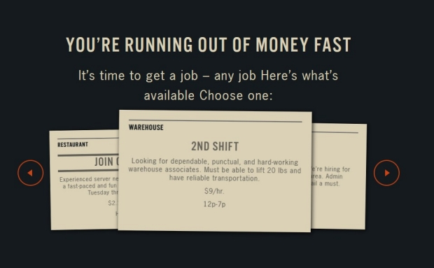 Screenshot of SPENT online game