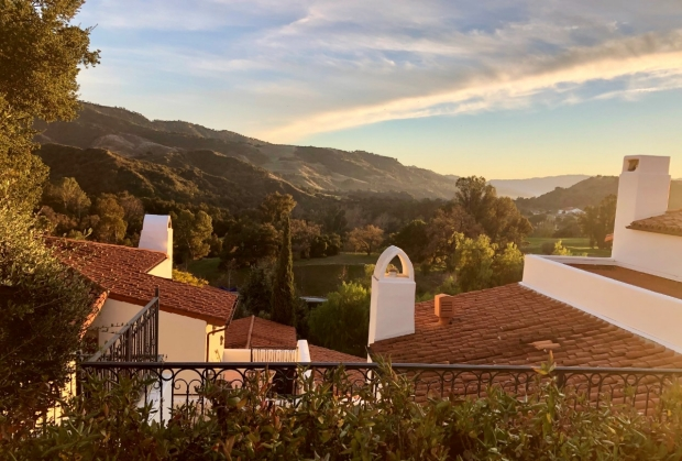 Sunset in Ojai, California, home of the Headache Cooperative of the Pacific
