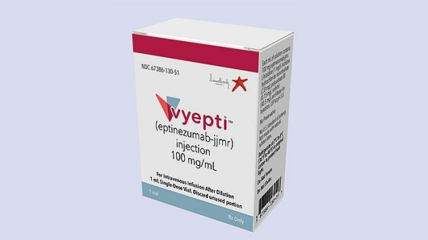Vyepti is the first IV therapy approved for the treatment of migraine
