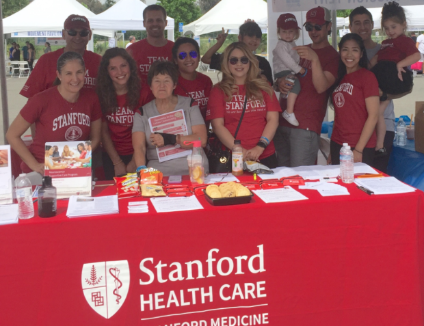 Stanford Movement Disorders Faculty and Staff at the National Parkinson Foundation's signature walk event 'Moving Day' on Saturday, June 4, 2016.