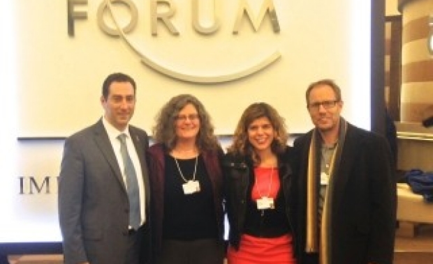 Etkin, Buckwalter, Brunet and Wyss-Coray at Davos Economic Forum