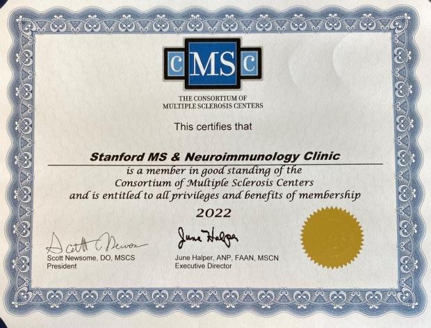 CMSC Certificate 2021