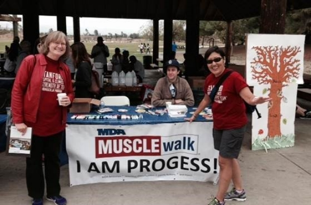 Neuromuscular Disorders team at the 2015 MDA Walk in San Jose, CA