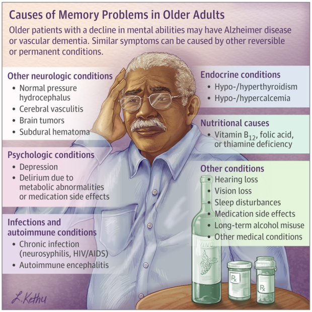 Causes of MemoryLoss in Elderly Persons